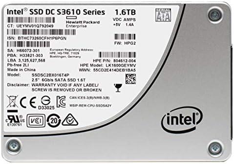 HP Intel DC S3610 SSD 1.6TB SATA 6Gb/s MLC 2.5 Pulgadas Unidad de ...