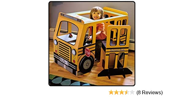 Amazoncom Kenyield School Bus Play Center With Table Chair