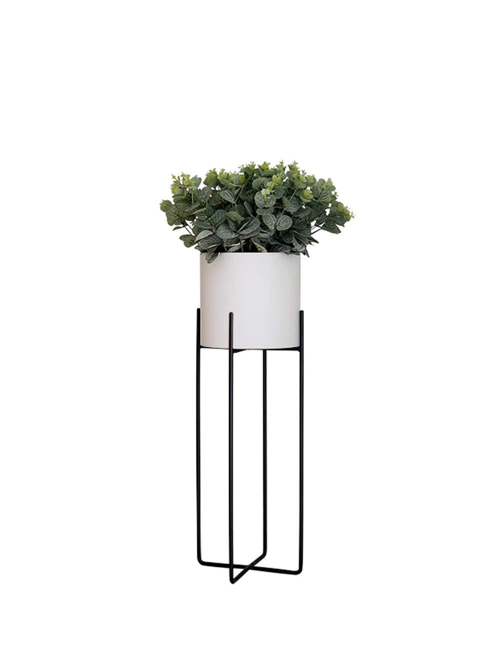 Punch-free, Nordic Balkon Grünpflanze Regal Vertikal Schmiedeeisen Modern Minimalist Kreatives Wohnzimmer Innen Dekorative Blumenständer (Farbe : Weiß, größe : Trumpet)
