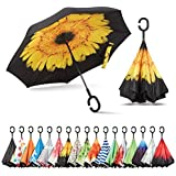Sharpty Inverted Umbrella, Umbrella Windproof, Reverse Umbrella, Umbrellas for Women with UV Protection, Upside Down…