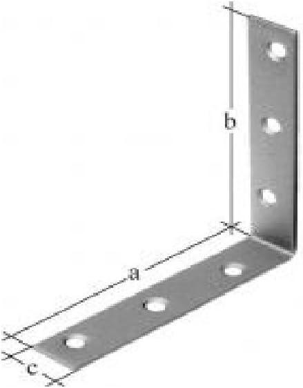 galvanizado Soportes en forma de 125 x 22 mm GAH.ALBERTS 33240 2