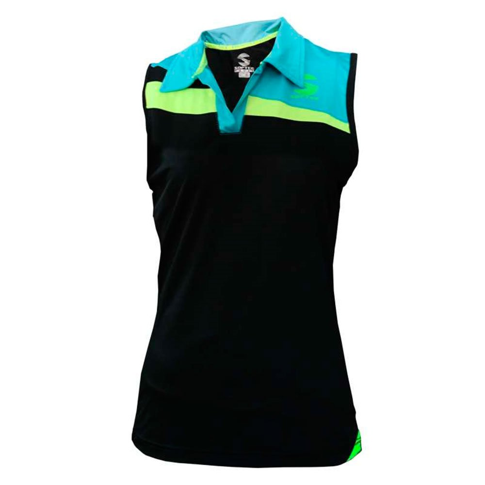 Softee - Camiseta Sisa Padel Risk Mujer Color Negro/Azul/Amarillo ...