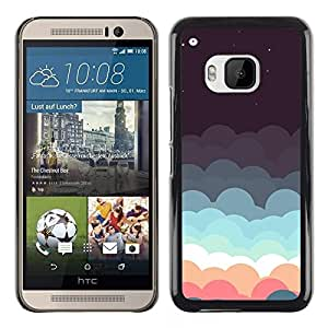 PC/Aluminum Funda Carcasa protectora para HTC One M9 Beautiful Pastel Clouds Minimalist / JUSTGO PHONE PROTECTOR