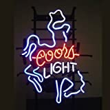 Coors Light Neon Sign 17''x14''Inches Bright Neon Light for Store Beer Bar Pub Garage Room