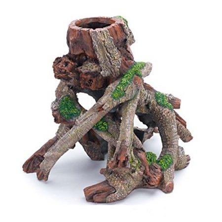 Penn Plax Tree Trunk Resin for Aquarium Resin Ornament Tree Trunk