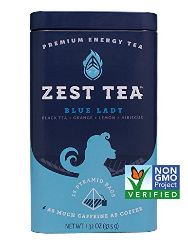 Ladys Tea Extract - Energy Tea (2-Pack) - High Caffeine Blue Lady Black Tea - 150 Mg Of Caffeine Per Bag (30 Sachets)