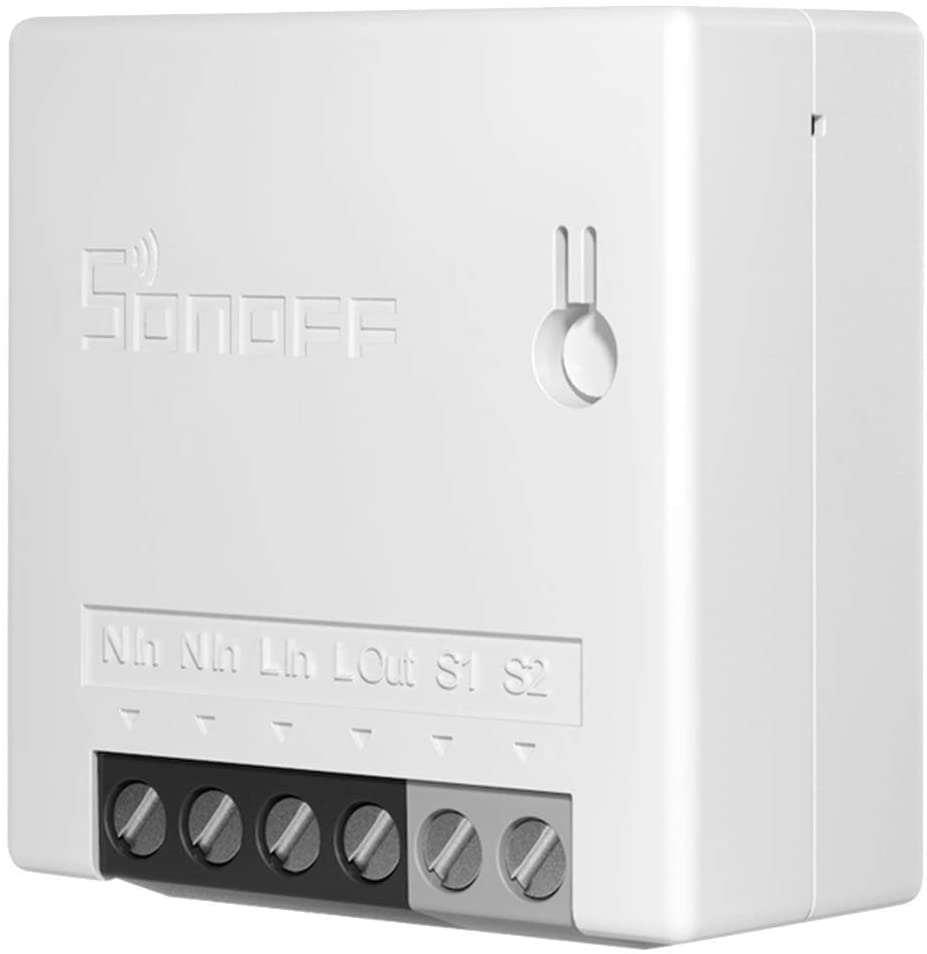 SONOFF Mini R2 10A Smart WiFi Wireless Light Switch, Universal DIY Module for Smart Home Automation Solution, Works with Amazon Alexa & Google Home Assistant, No Hub Required(MINI Upgrade)