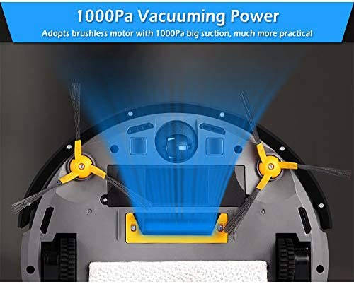 Aspirateur Robot sans Fil 2 en 1 Robot Nettoyeur De Sweeper APP Contrôle Mutifunctional Aspirador Accueil Robot Balayer