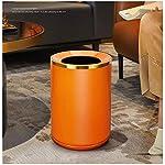 Basura-bote-de-basura-Cubo-de-la-basura-naranja-metal-con-curvada-abertura-redonda-Inicio-Sala-de-gama-alta-de-papel-cesta-de-la-basura-cesta-simple-hotel-de-la-oficina-bote-de-basura-contenedores-de