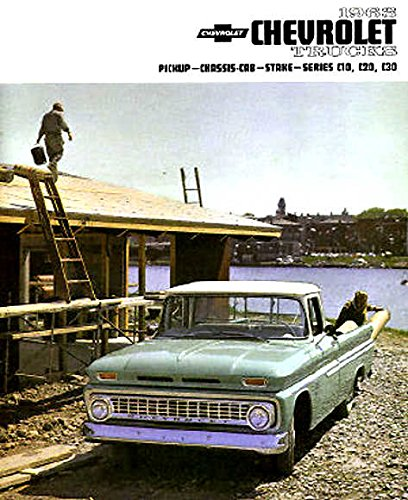 A MUST FOR OWNERS, RESTORERS & COLLECTORS - THE 1963 CHEVY PICKUP TRUCK DEALERSHIP SALES BROCHURE - INCLUDES; Fleetside, Stepside, Chassis Cab, Stake, C 10, C 20, C 30, 2WD & 4WD - ADVERTISMENT - LITERATURE - CHEVROLET 63