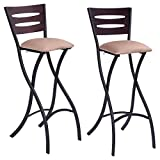 Folding Bar Stools Costway Set Of 2 Folding Counter Bar Stools Bistro Dining Kitchen Pub Chair Furniture, 29.9