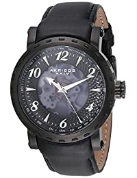 Akribos XXIV Men's AK698BK Analog Display Automatic Self Wind Black Watch