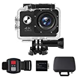 ALOFOX 4K Action Camera 16MP Waterproof Underwater Camera Sports Camera with Built-In Wi-Fi (900mAh Battery, Up to 90 Minutes Videos, IPX8 up to 30 m / 100 ft)