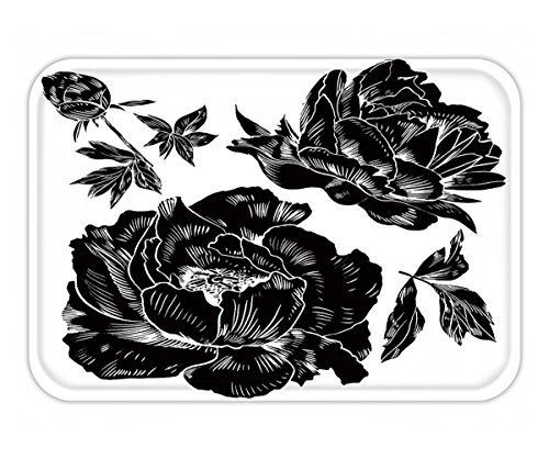 Peony Flat Card (Beshowere Doormat hand drawing peonies vector graphic flowers decorative background for cards invitations)