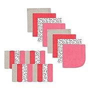 Luvable Friends 24-Piece Washcloths, Pink Leopard, 24 Count