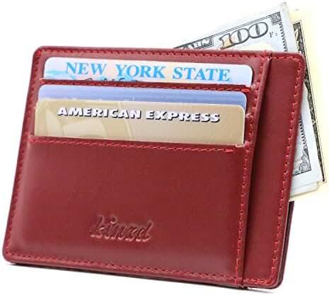 Kinzd Slim Front Pocket Wallet Card Holder Case Minimalist Wallet RFID Blocking