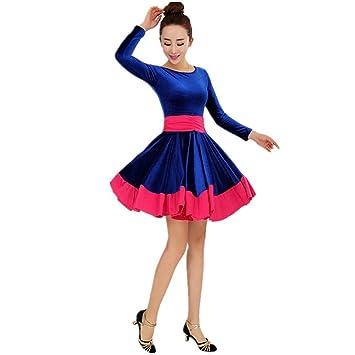 a8266ff8c7d88 QCBC Women Modern Waltz Tango Smooth Ballroom Dance Dress Latin Dance Dress  Square Dance Dress Standard