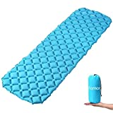 femor Ultralight Sleeping Pad, Inflatable Camping Air Pad with Comfortable Air-Support Cells Design for Hiking, Backpacking, Camping, Traveling