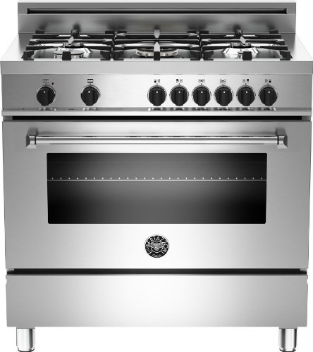 Bertazzoni Master Series 36' Stainless Steel Dual Fuel Range