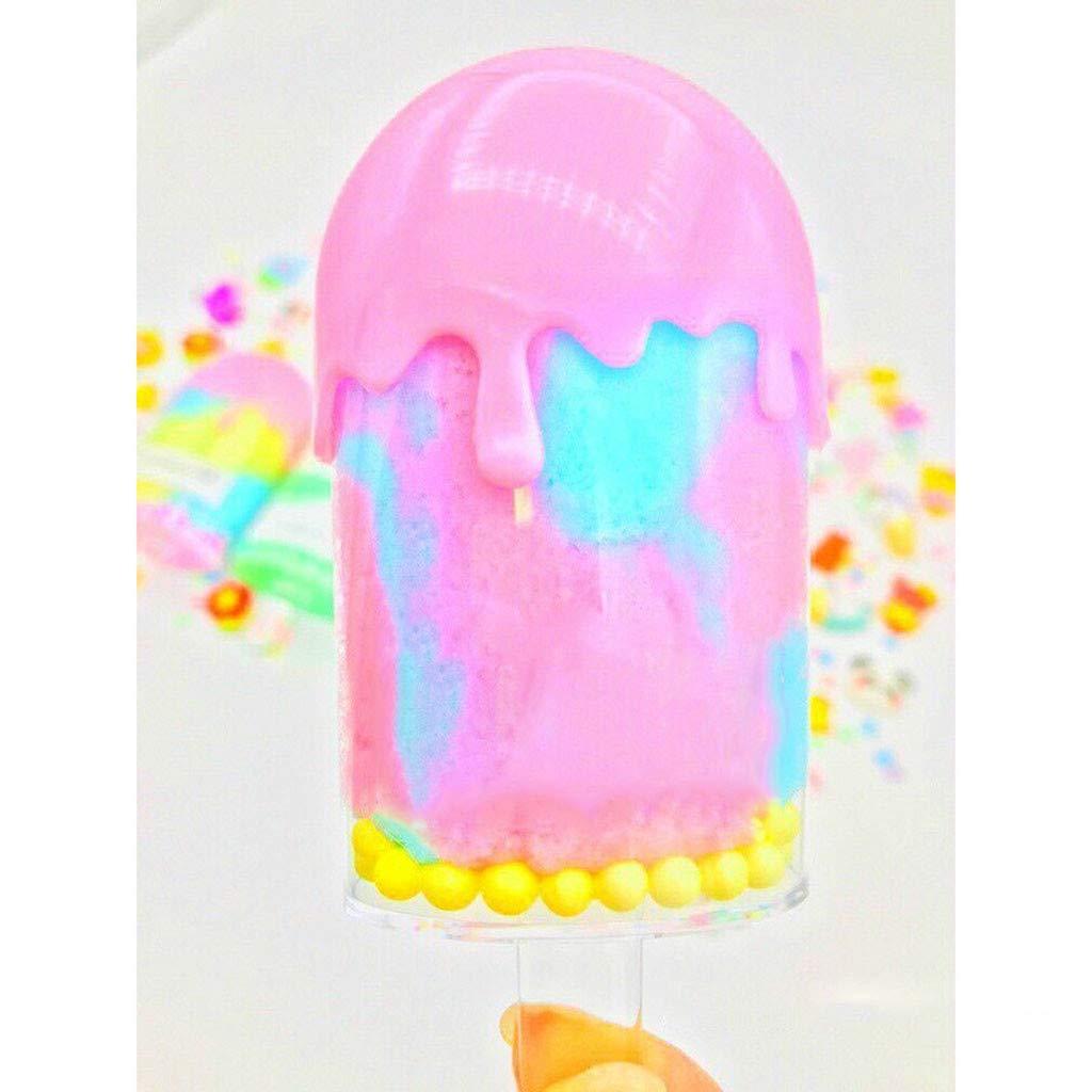 Lukame✯ Slime Mud Kit Crystal Jouet De Sable De Boue Pour Enfants Cadeau De Bricolage Parfum/ée Doux Parfum/ée Coton Barbe Bricolage Porpora