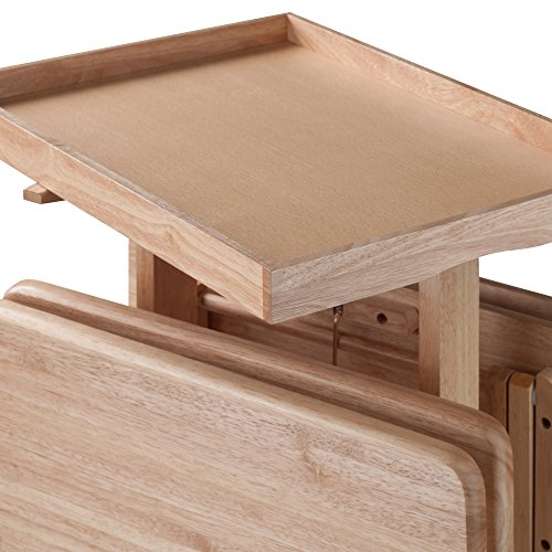 Winsome Wood 42820 Isabelle 6 Piece Snack Table Set, Natural by Winsome Wood (Image #5)