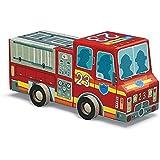 "Crocodile Creek Fire Engine Jigsaw Puzzle in Vehicle Shaped Box (48 Piece), 8"""