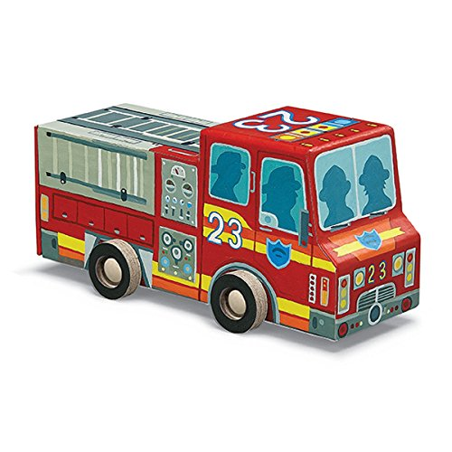 Crocodile Creek - Fire Engine - 48-piece jigsaw puzzle - Includes vehicle shaped storage box