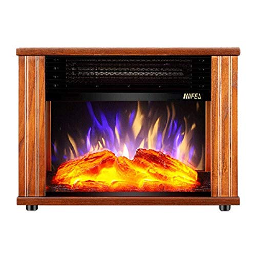 Cheap RKRGQ Electric Fireplace Electric Stove Fireplaces Log Burner Electric Fire Stove 900W/1800W Freestanding Electrical Fireplace Indoor Heater Stove Log Wood Electric Stove Fire (Brown) Black Friday & Cyber Monday 2019