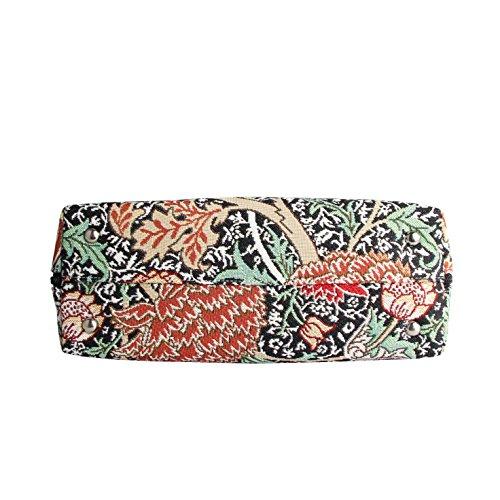Borsa Signare a spalla convertibile in tessuto stile arazzo alla moda William Morris The Cray