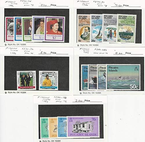 Pitcairn Islands, Postage Stamp, 270//288 Mint NH, 1986-87, JFZ