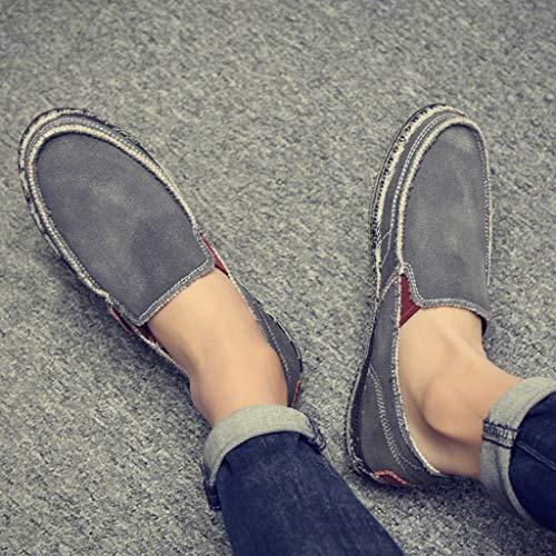 Hombres Tendencia Lona Size color Salvajes Gray Verano Los Mezclilla Gray Ocasionales Wangkuanhome De Zapatos 41 qwxzHaHCZ