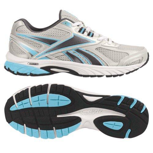 Reebok Women's Pheehan Running Shoe,Silver/Blue/White/Black,9 M US