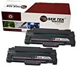 Laser Tek Services® 2 Pack Replacement Samsung MLT-D105L Black High Yield Toner Cartridge for the Samsung ML-1910, ML-1915, ML-2525, ML-2525W, ML-2545, ML-2580n, SCX-4600, SCX-4623F, SCX-4623FN, SCX-4623FW, SF-650, SF-650P