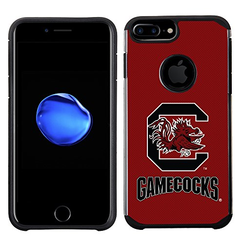 Prime Brands Group Textured Team Color Cell Phone Case for Apple iPhone 8 Plus/7 Plus/6S Plus/6 Plus - NCAA Licensed University of South Carolina Gamecocks