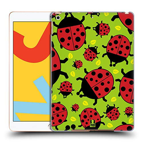 Head Case Designs Green Ladybug Bugged Life Hard Back Case Compatible for iPad 10.2 (2019)