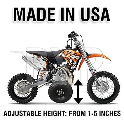 BYP_MFG_INC Adjustable Height KTM 50 KTM50 Mini Adventure Kids Youth  Training Wheels ONLY