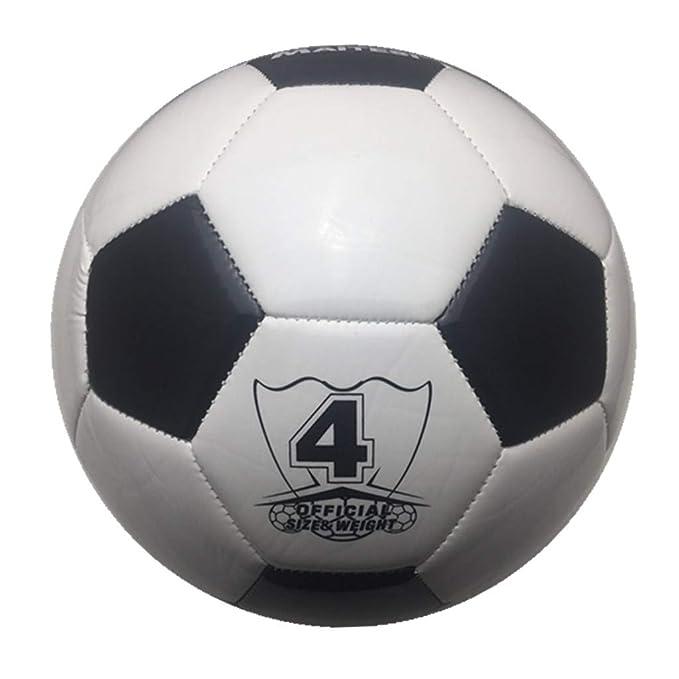 CUTICATE Balón De Fútbol Clásico Negro Blanco Tamaño Estándar4 ...