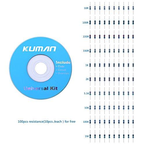 kuman K5-USFor Arduino Raspberry pi Sensor kit, 37 in 1 Robot Projects Starter Kits with Tutorials for Arduino UNO RPI 3 2 Model B B+ K5 by kuman (Image #6)