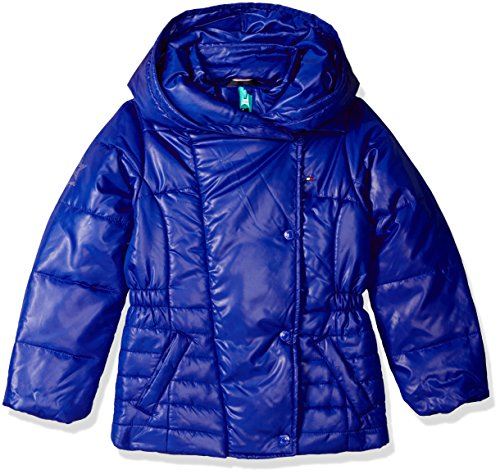 Tommy Hilfiger Girls Pillow Collar Promo Puffer Jacket with Belt
