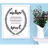 'Mother.Heart' Kristin Hannah Print. Mother's Day Gift, Gift for Mom, New Mom Gift, mother's' day present, Christmas Gift, Holiday Gift