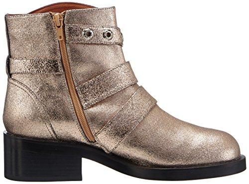 P1 Detroit - botas de piel mujer dorado - Gold (champagne)