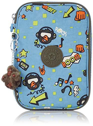 (Kipling 100 PENS Pencil Cases, 21 cm, 1.5 liters, Multicolour (Monkey Rock) )