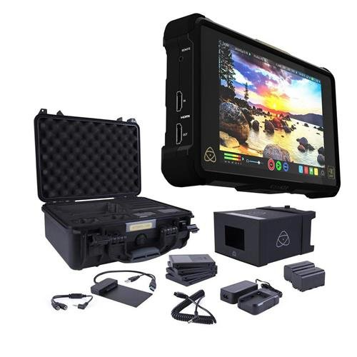 Atomos Shogun Inferno 7″ with Accessories Kit – Includes 2x Batteries with Fast Charger, 4x Master Caddies, Docking Station, HDR Sunhood, Power Supply, Control Cable, and Hard Case