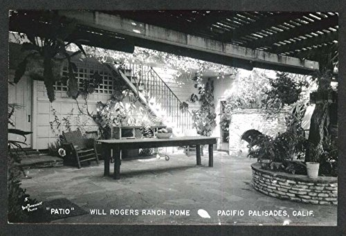 Will Rogers Ranch Home Patio Pacific Palisades CA RPPC for sale  Delivered anywhere in USA