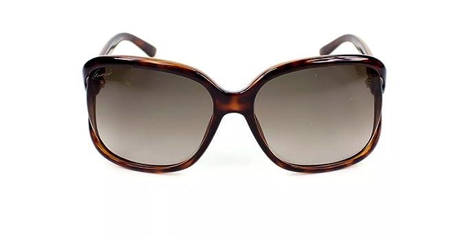 0a1f3a6cbd3 Gucci Women s Sunglasses GG3646 DWJ Havana Brown Gradient Lens Oval  Authentic