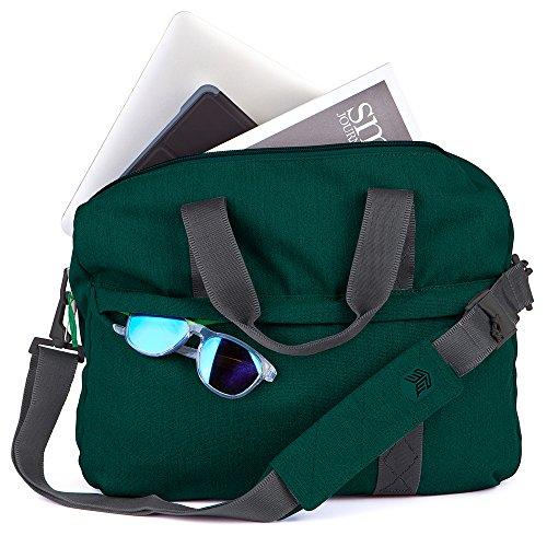 STM Judge Slip für Laptop & Tablet bis 38,1cm Tornado Grey Botanical Green