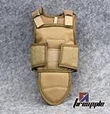 Hotianq 1/6 Scale USMC Tan Color Tactical Vest Ballistic Body Armor Bulletproof Vest Model Toy for 12 Inch Action Figure