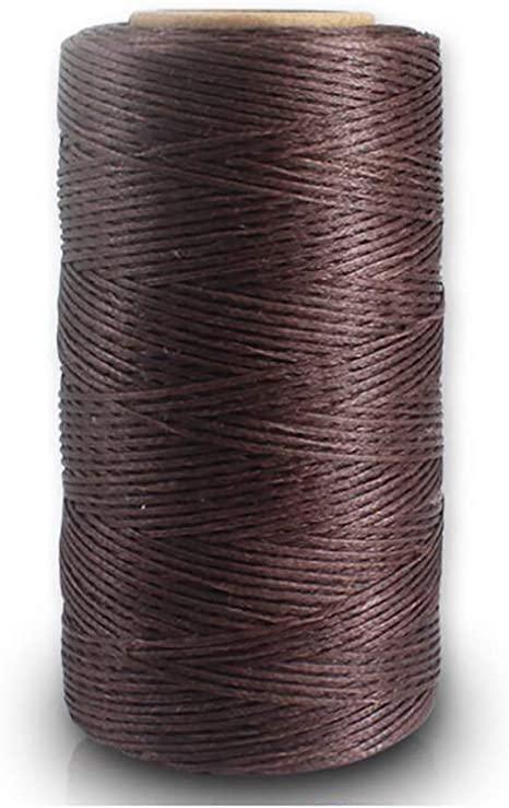 EXCEART 3 Rolls Waxed Thread Sewing Thread Tailoring Line Cobbler Thread Bookbinding Cord Leather Craft Supplies