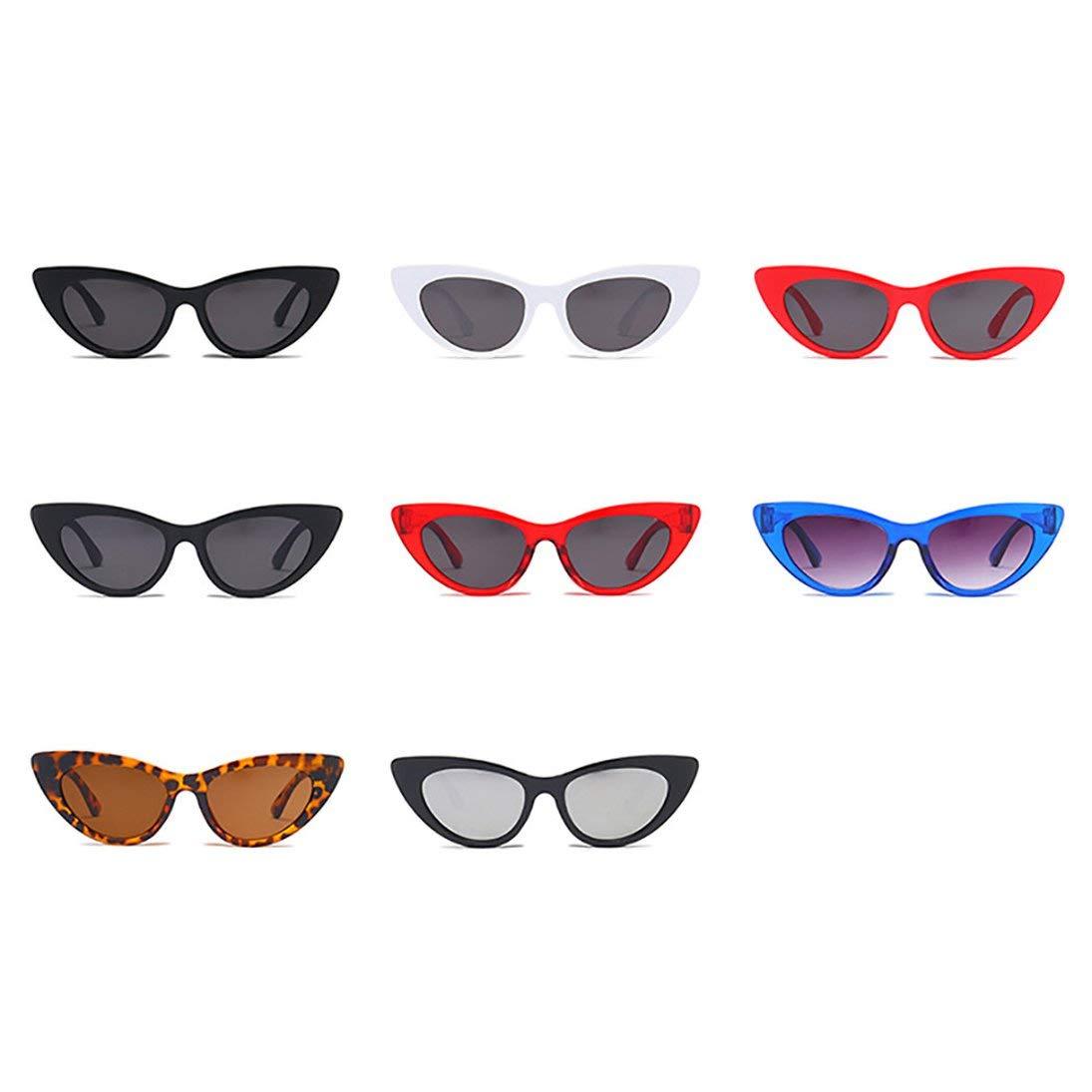 Baynne-CAa2 Lightweight Retro Cateye Sunglasses Mirror UV405 Protection Sun Glasses