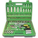 JBM 50791 - Pack de 113 piezas con vasos de 12 cantos en estuche (cincado) color verde